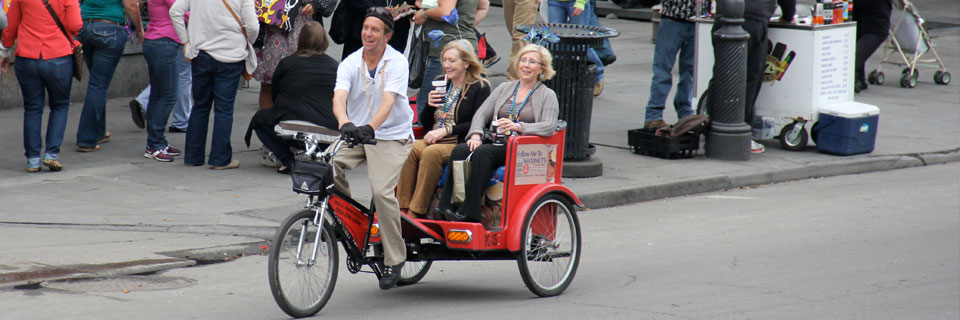 NOLA Pedicabs in the French Quarter